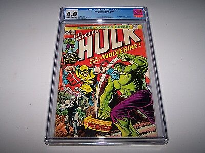 Incredible Hulk #181 CGC 4.0 OW/W KEY! ~ 1st Full App Wolverine ~ TAKING OFFERS!