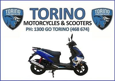 Torino Aero MKII  Scooter 2017 Brand New – Blue & Black $2,590 Ride-Away (LAMS)