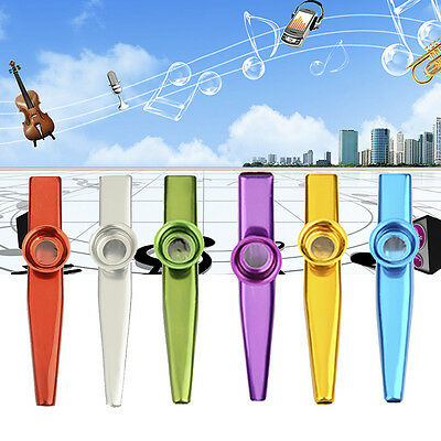 6 Colors Kazoo Harmonica Mouth Organ Metal Musical Instrument Kids Party Toy Fun