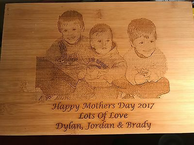 Engraved Bread/Cutting/Chopping Board - Personalised Mothers/Fathers Day Gift
