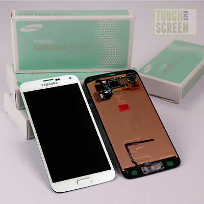 100% Original Samsung SM-G901F Galaxy S5 Plus Display Screen weiß white