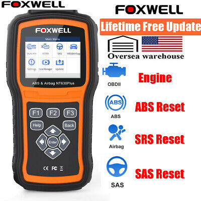 Foxwell NT630 OBD2 Fault Code Reader Diagnostic Scanner Tool ABS SRS As ML619