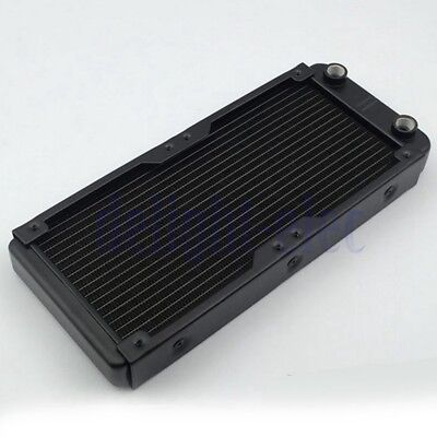 240mm 18 Tubes G1/4 Aluminum Computer Radiator Water Cooling For CPU Heatsink DE
