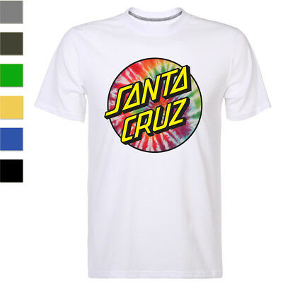 California Santa Cruz Distressed Tee Fashion Men's T-shirt Short Sleeve Top NEW