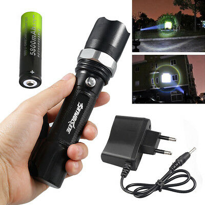 10000 Lumen Polizei XML T6 LED Taschenlampe Zoomable Flashlight 3 Modi Light