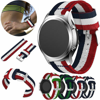 For Samsung Gear S3 Classic / Frontier Genuine Nylon Wrist Band Watchband Strap