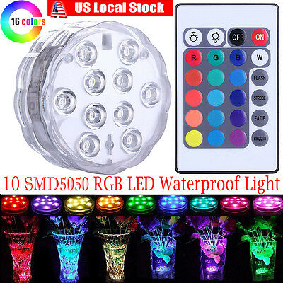 LED submersible Multi Color Waterproof Wedding Party Vase Base Light & Remote