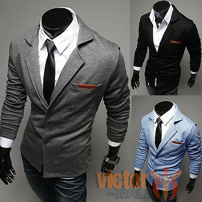 Mens Formal Occasion Slim Fit Suits Wedding Business Tuxedos Two Buttom Blazer