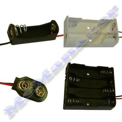 Pack Of 100 1/2/3/4/6/8/x AA/AAA/9V Battery Holder/Box/Switch Large Quantity