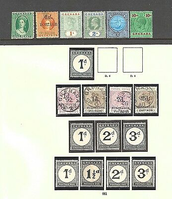 GRENADA 1863-1935 Mint collection on Imperial printed - 99755