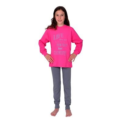 Betz two-piece long-sleeved Girls Pyjama Life Colour: pink Sizes: 116-176