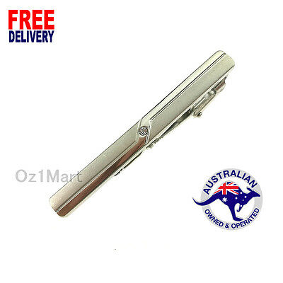 NEWEST Men Silver Tie Clip Pin Stainless Steel Fashion Clasp Bar Wedding Office