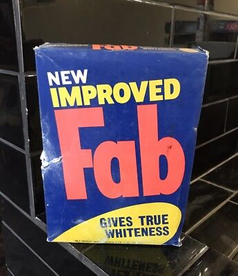 FAB Washing Powder Vintage Packaging Box With Contents Full