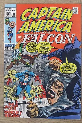 Captain America #136 Marvel Bronze Age comic - Cents issue - FN/VFN