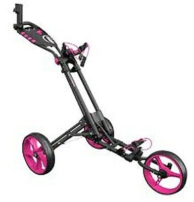 2017 Masters iCart One-3 Wheel One Push Trolley Grey/Pink