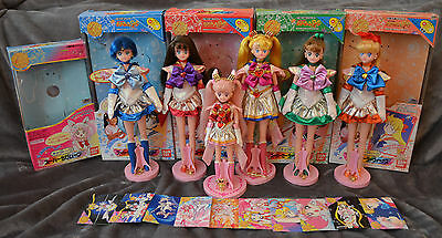 RARE Sailor Moon SuperS Chara Talk Doll Chibimoon Mercury Mars Jupiter Venus