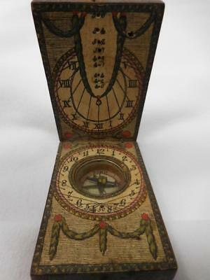 Antique 19th Century Compass with Sundial