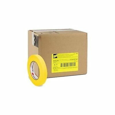 3M 06652 Crepe Paper Automotive Refinish Tape 3/4 Inch, 48-Pack, Yellow