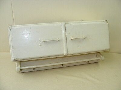 beautiful age Wooden cabinet, Wall Art Deco white, Kitchen cabinet Towel holder