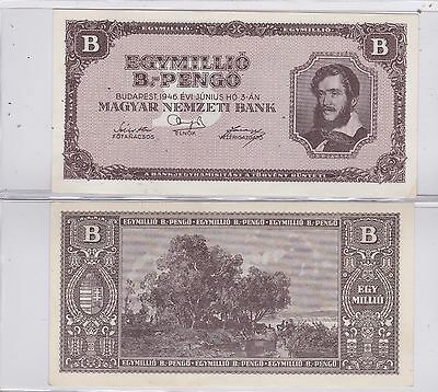 Kappys Id10233 Hungary 1946 Inflation 1,000,000,000,000,000,000 Pengos Bank Note