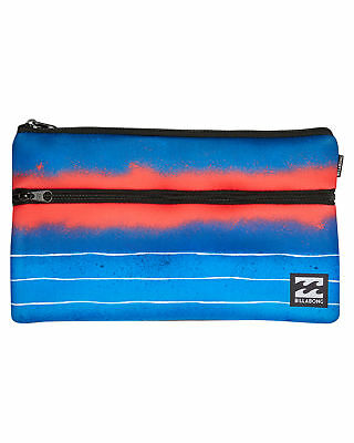 New Billabong Jumbo Pencil Case Polyester Gifts Blue