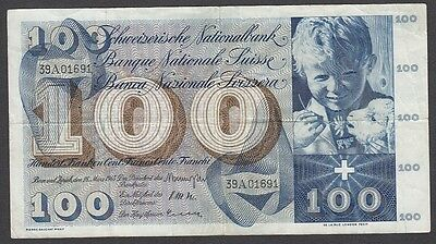 100 Franken From Switzerland 1963