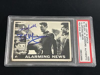 1966 Topps Lost In Space Mark Goddard Billy Mumy Signed Rookie Rc Card Psa/Dna
