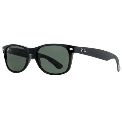 Ray Ban RB2132 901 52mm Black Green G-15 Classic New Wayfarer Sunglasses