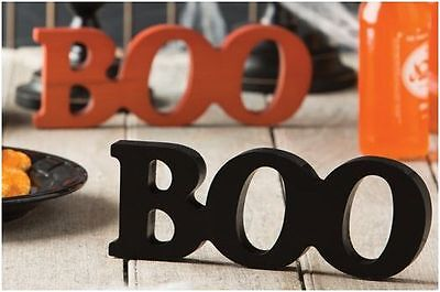 Longaberger 2017 Halloween BOO Wood Sign - Black or Spice