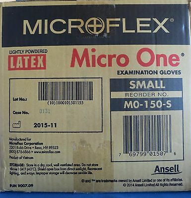 10 Boxes Microflex Latex Exam Gloves # MO-150-S Size Small Micro One