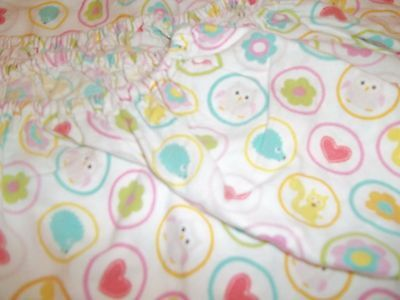 KIDSLINE by DENA  FITTED CRIB SHEET multi-color animals hearts and dots