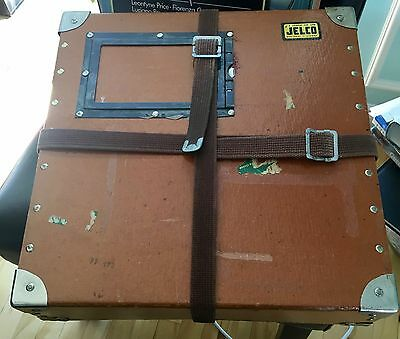 VINTAGE 16mm MOVIE FILM REEL BOX SHIPPING CASE CONTAINER WITH STRAPS