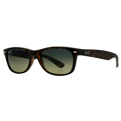 Ray Ban RB2132 894/76 Matte Dark Havana Brown Polarized Wayfarer Sunglasses
