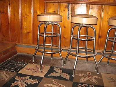 """antique bar stools-from the 50""""s 4 stools"""