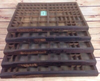 Antique Golding Wood Letterpress Type Print Drawer Tray Miniature Craft Display