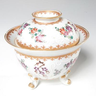Vintage Edme Samson Footed Covered Bowl/Tureen With Armorial Designs