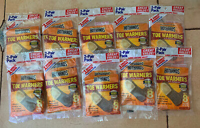 Lot Of 2 -HotHands Toe Warmers with Adhesive 2 Pair Per Pack NEW, EXP 10/19 (FF)