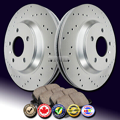Z0887 2006 2007 2008 2009 2010 2011 2012 2013 RAM 1500 Brake Rotors Ceramic Pads