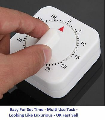 60 Minutes Kitchen Timer Cooking Ring Mechanical Counter WIND-UP Alarm Clock_UK