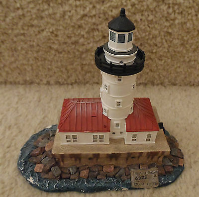 1998 Harbour Lights Sculpture, #208 Ltd Ed. CHICAGO HARBOR, Illinois Lighthouse