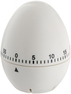 Egg Shaped Timer 60 Minutes Mechanical Kitchen Novelty Fun Alarm Cook _UK