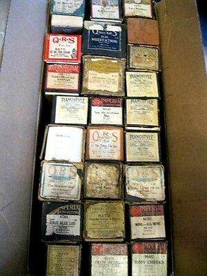Lot of 24 Misc Vintage Player Piano Music Rolls QRS, Piano Style, Imperial& More