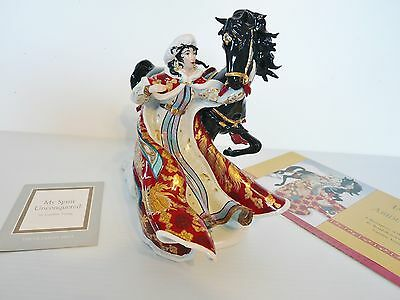 Franklin Mint My Spirit Unconquered Figurine by Caroline Young,  A Queen & Steed