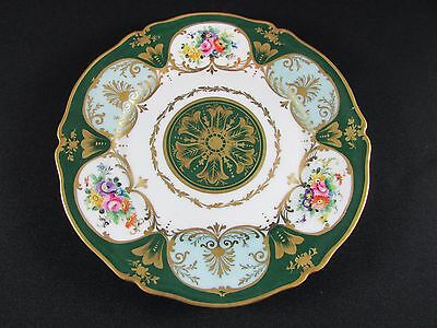 Exquisite Hand Painted & Gilded Cabinet Plate for La Tallec a Paris c.1958