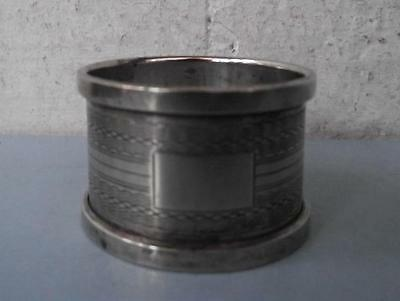 Victorian Silver Plated Engine Turned Napkin Ring EPNS Empty Cartouche
