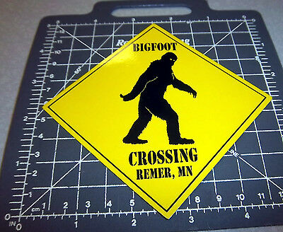 Bigfoot Crossing fridge Magnet Remer Minnesota, bigfoot capital of Minnesota!