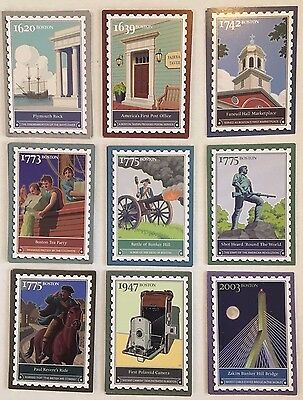 *9 Different  2007 Ebay Live Boston Postage Stamp Trading Cards GREAT condition