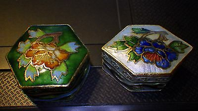 CHINESE CLOISONNE SMALL HINGED TRINKET PILL BOXES from the Smithsonian Catalogue