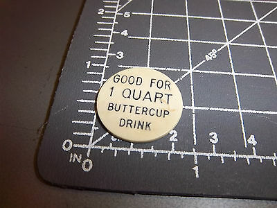 Browns Dairy Drumheller Alberta Canada token, good for one qt buttercup drink