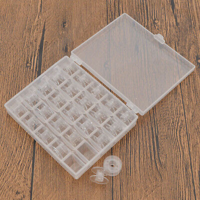 Empty Bobbins Sewing Machine Spools Plastic Case Storage Box for Sewing Machine
